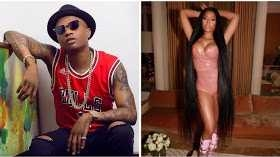 Is Wizkid and American female rapper, Nicki Minaj dating? Both spotted kissing at a club in Paris (Photos)